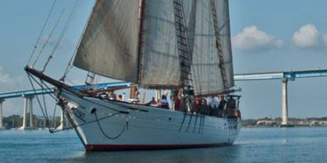 Mar Y Vino Sunset Cruise Aboard the Tall Ship 'Bill of Rights' tickets