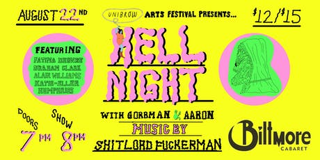 Hell Night with Aaron Read & Gorbman Live Music from Shitlord Fuckerman tickets