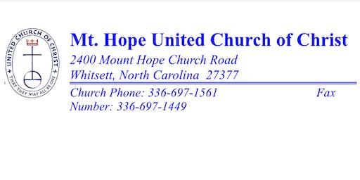 Mt. Hope UCC Kids' Music Camp