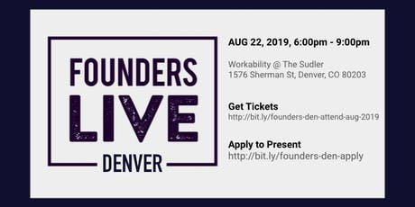 Founders Live Denver - August 2019 tickets