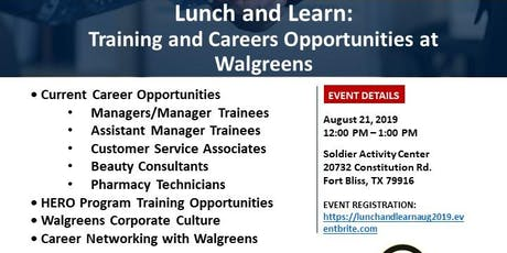 Lunch and Learn: Training and Careers Opportunities at Walgreens tickets