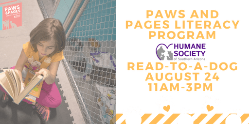 Read-to-a-Dog with Paws and Pages Humane Society of  Southern Arizona