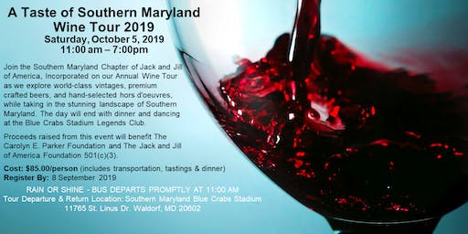 A Taste of Southern MD Wine Tour 2019