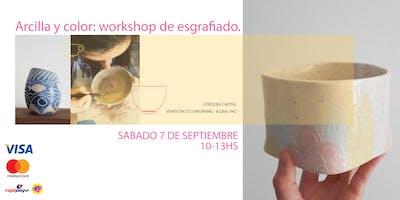 Arcilla y color: Workshop De Esgrafiado