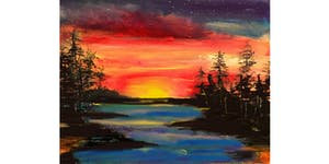SOLD OUT: West Coast Sunset Paint & Sip Night - Art...