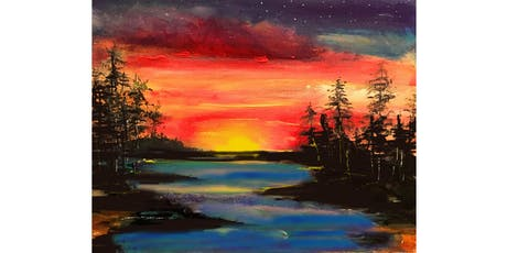 West Coast Sunset Paint & Sip Night - Art Painting, Drink & Food tickets