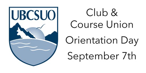 UBCSUO Club/Course Union Orientation - Term 1 - 2019-20