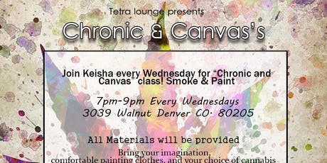 Chronic and Canvas paint party tickets