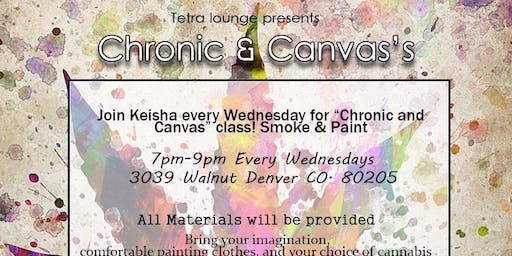 Chronic and Canvas paint party