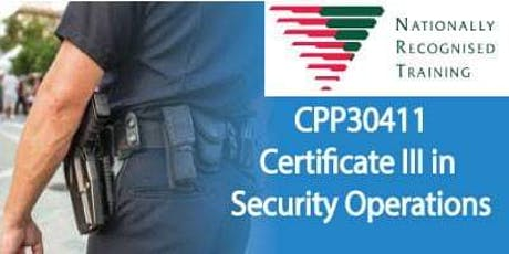 October - CPP30411 - Certificate III in Security Operations tickets