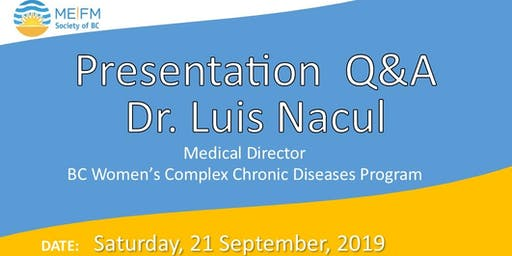 Presentation + Q&A with Dr. Luis Nacul  -  In person & Livestream