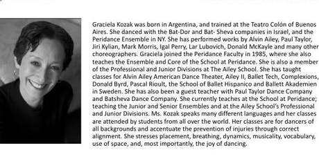 Graciela Kozak Master Ballet Class tickets