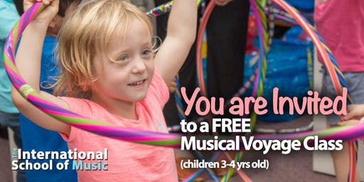 FREE TRIAL Wednesday, 8/28! Musical Voyage Class!