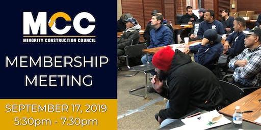 MCC Membership Meeting - September 17, 2019