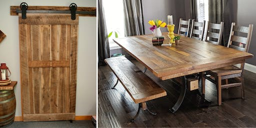 Transform Your Home with Barn Doors, Tables, and Chairs