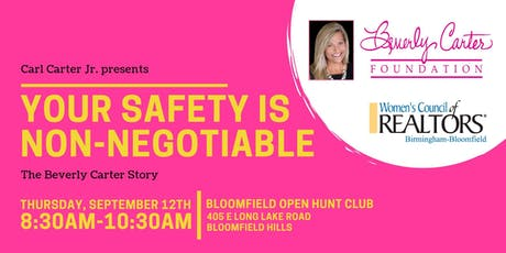 Your Safety is Non-Negotiable: The Beverly Carter Story tickets