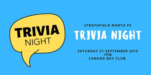 Strathfield North Public School Trivia Night 2019