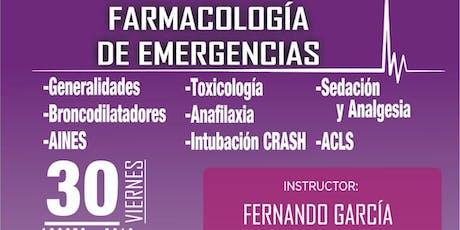 Farmacología de Emergencias boletos
