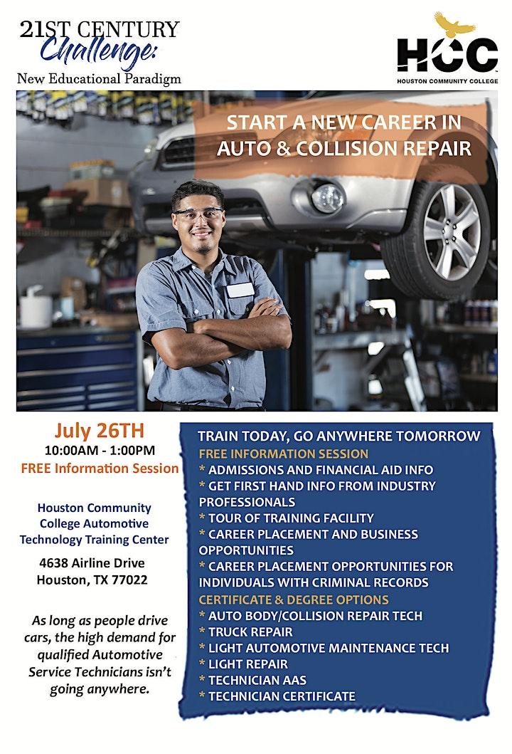 FREE Auto & Collision Repair Training Information Session image