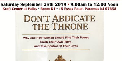 Don't Abdicate The Throne-Book Signing