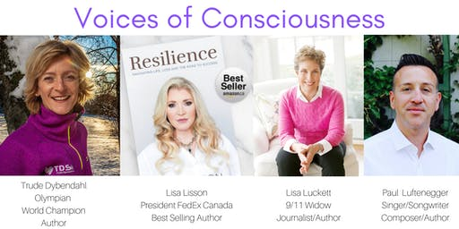 VOICES OF CONSCIOUSNESS: 4 Powerful Speakers & A Musical Performance