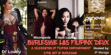 Burlesque Las FilipinX DeuX tickets