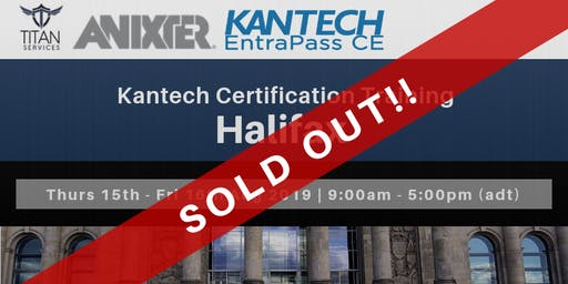 Halifax Kantech CE Certification - Anixter