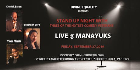 Stand Up Comedy Night with Derrick Eason, Vince Morris & Leighann Lord tickets