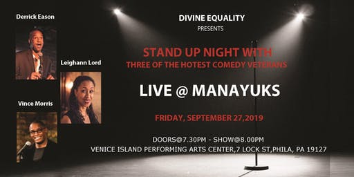 Stand Up Comedy Night with Derrick Eason, Vince Morris & Leighann Lord
