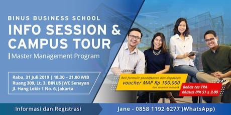 Info Session & Campus Tour S2 Program BINUS BUSINESS SCHOOL tickets