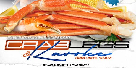 CRAB LEGS & KARAOKE tickets
