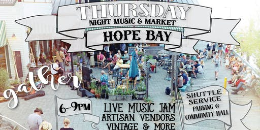THURSDAY NIGHT OUTDOOR MUSIC & MARKET - Open stage, kitchen & bar OPEN
