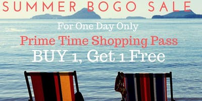 BOGO-Today Only! Buy 1 Bring a Friend for FREE!  Mercer County Fall19 Prime time shopping $10 ($15 at door) Friday Sept. 27th At 12 pm (Children must be in a stroller or strapped in a carrier)