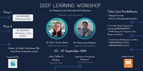 [PAID WORKSHOP] Deep Learning for Research and International Publication tickets