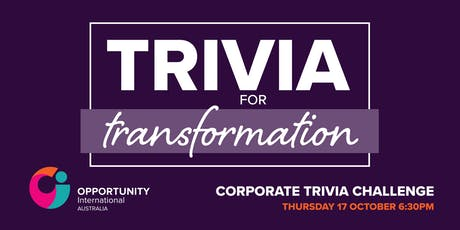 Trivia for Transformation 2019 tickets