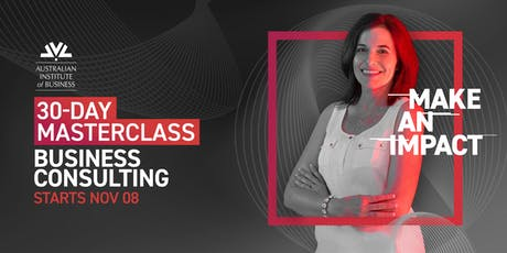 30-Day Masterclass: Business Consulting tickets