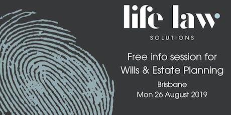 Free Info Session for Wills & Estate Planning - Brisbane tickets