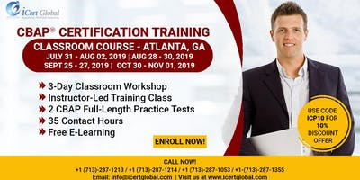 CBAP- (Certified Business Analysis Professional™) Certification Training Course in Atlanta, GA, USA.