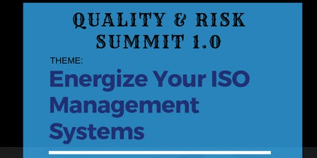 QUALITY & RISK SUMMIT 1.0 tickets