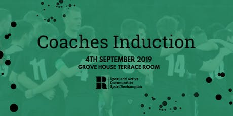 Sport Roehampton Coaches induction tickets