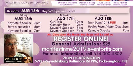 "MANIFEST IN ME 2019 CONVENTION  ""BIRTHING THE MIRACULOUS""  tickets"