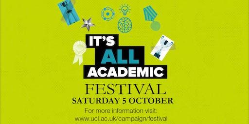 UCL It's All Academic Festival 2019: A snapshot of UCL Innovation & Enterprise Entrepreneurship (10:30)