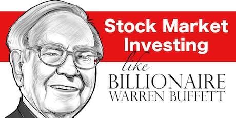 Learn the Secrets of Warren Buffett's Strategy to Long Term Value Investing tickets
