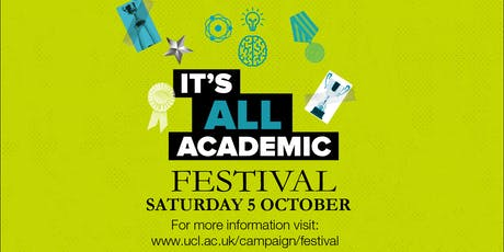 UCL It's All Academic Festival 2019: UCL Mental Health Podcast - Live! (14:30) tickets