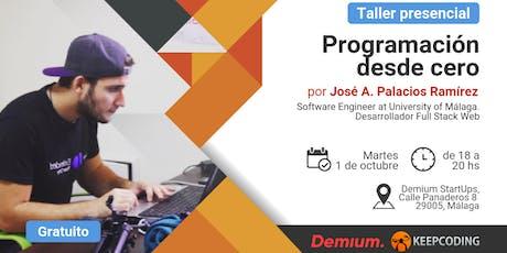 Taller presencial Programación desde Cero - Demium&KeepCoding - Málaga entradas