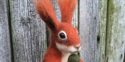 Woodland Squirrel Needle Felting Workshop at The Old School Gallery in Yetminster on the 21/9/19