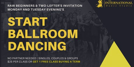 [OCTOBER] Monday Starter Ballroom Dance Class tickets