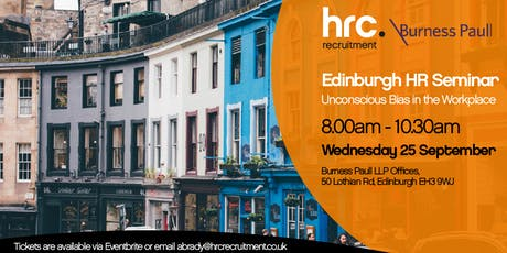 Unconscious Bias - Burness Paull & HRC Recruitment - Edinburgh tickets