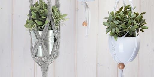 Make a Macrame Plant Hanger @ Exhale Festival