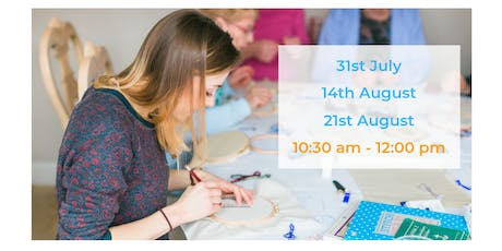 Summer Holiday Hand Embroidery Workshops tickets